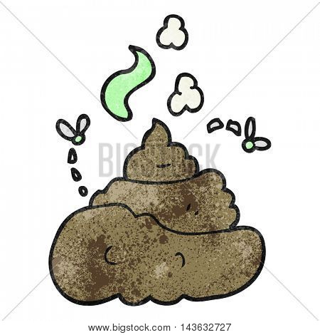 freehand textured cartoon gross poop