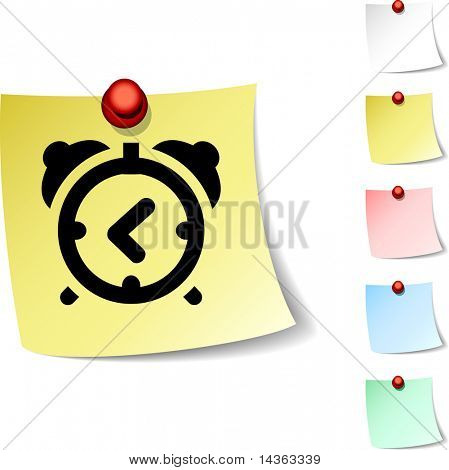 alarm-clock sheet icon. Vector illustration.