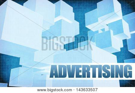 Advertising on Futuristic Abstract for Presentation Slide 3D Illustration Render