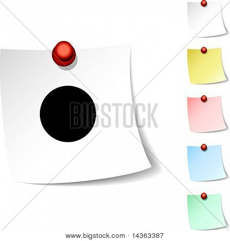 Rec  sheet icon. Vector illustration.