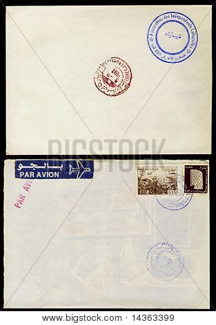 Two stamped envelopes from Algeria