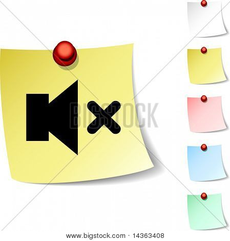 Mute sheet icon. Vector illustration.