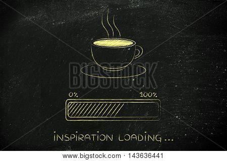 Coffee Cup & Progress Bar Loading Inspiration