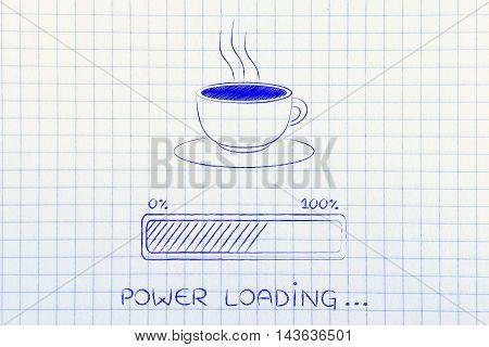 Coffee Cup & Progress Bar Loading Power