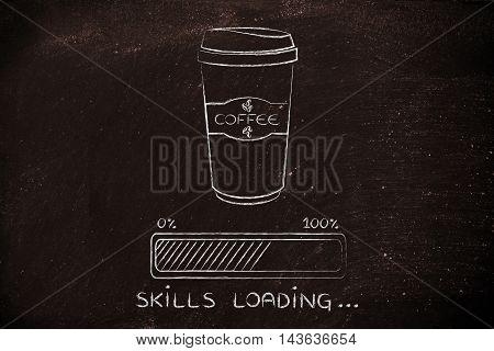 Coffee Tumbler And Progress Bar Loading Skills