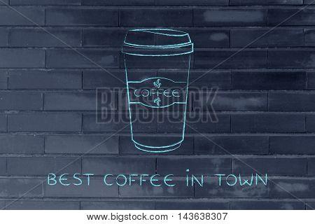 Coffee Tumbler Chalk Illustration