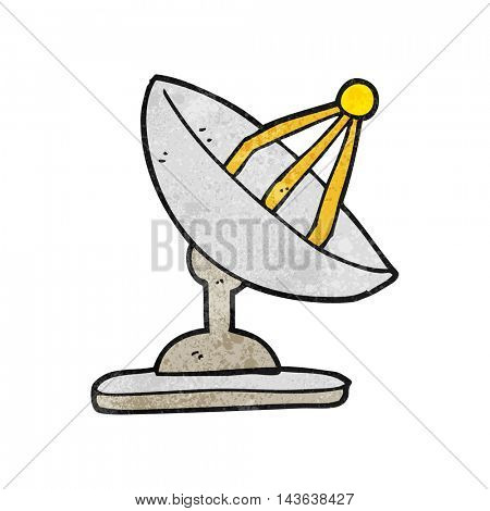 freehand textured cartoon satellite dish