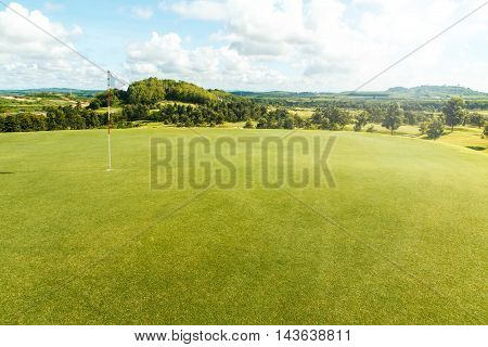 Sky beautiful golf courses in Rayong, Thailand.