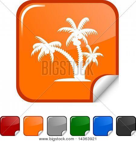 tropical  sticker icon. Vector illustration.