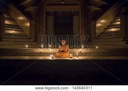 The meditation novices the pagoda thai temple