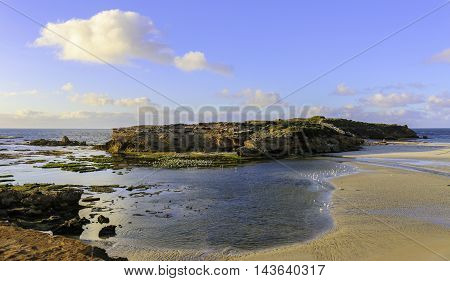 Rugged rocky coastline of southern Australia near Warrnambool Victoria