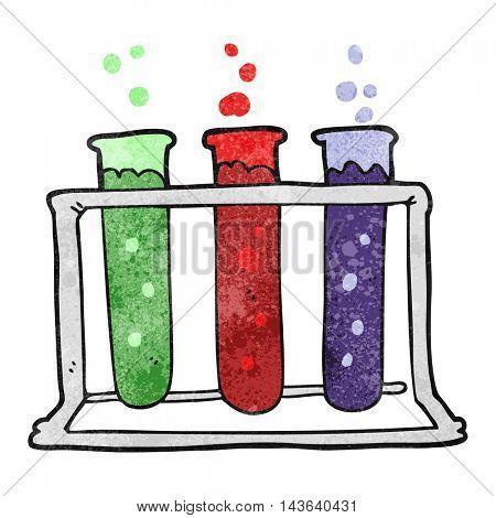 freehand textured cartoon rack of test tubes