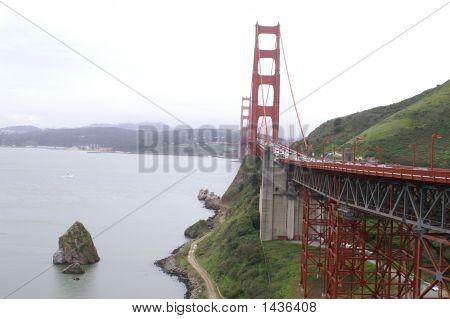 Golden Gate Bridge With Island.