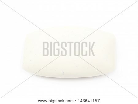 Single piece of soap isolated over the white background