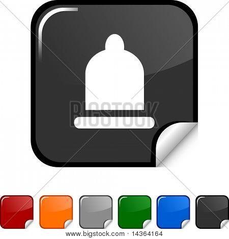 Condom sticker icon. Vector illustration.