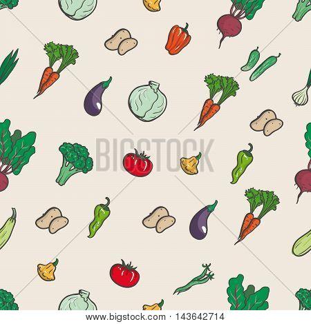 Vegetables. Seamless background. Vegetables illustration. Vegetables EPS10.