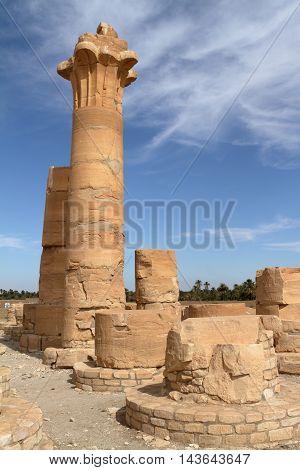 The temple ruins of Soleb in Sudan