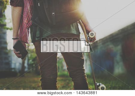 Skater Outdoors Free Active Graphic Concept