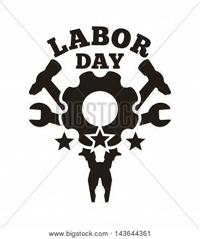 Labor Day logo design. Vector illustration isolated on a white background