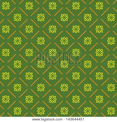 Line flower geometric seamless pattern. Fashion graphic background design. Modern stylish abstract texture. Colorful template for prints textiles wrapping wallpaper website. VECTOR illustration