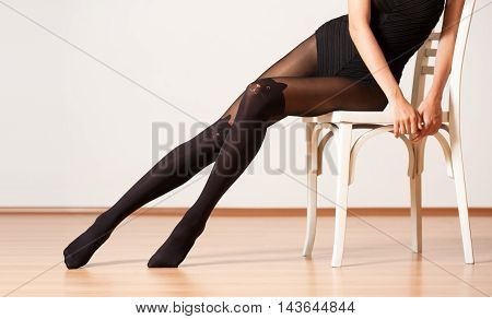 Long Legs In Stockings.