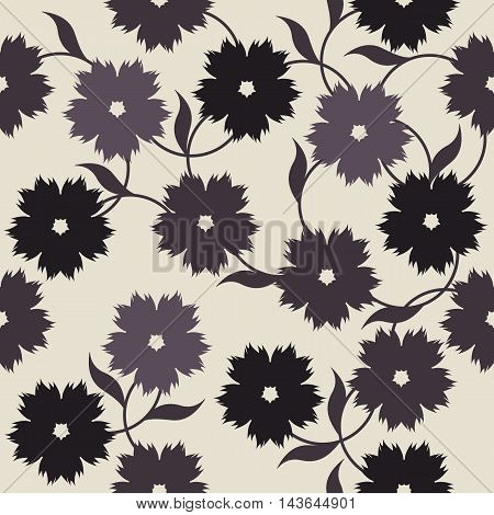 Elegant endless pattern with flowers for your creative designs. Stylish template can be used for design fabric ,textile, linens and more designs.