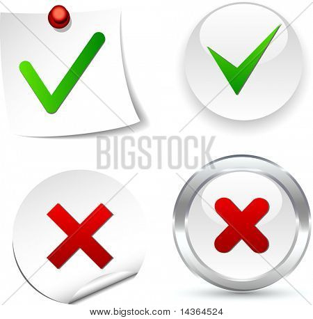 Validation white icons. Vector illustration.