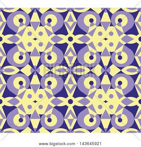Fancy violet abstract seamless vector geometrical pattern