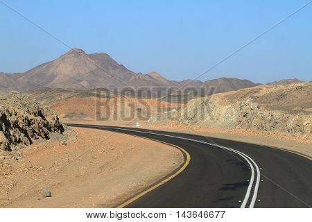 A Road in the Sahara from Sudan