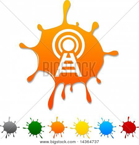 Communication  blot icon. Vector illustration.