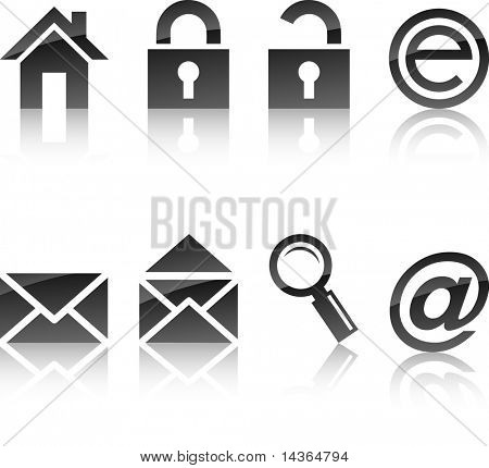 web icon collection. Vector illustration.
