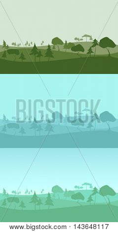 forest background seamless pattern