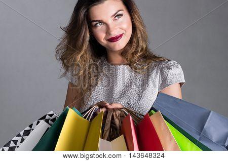Beautiful Shopaholic Woman