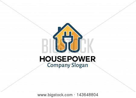 House Power Logo Creative And Symbolic Design Illustration