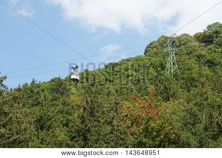 cable car or funicular at Harz mountains in Germany