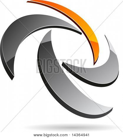 Abstract 3d symbol. Vector illustration.