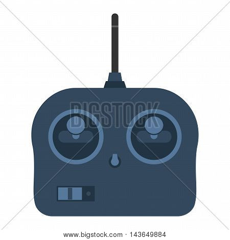 Game console joystick vector illustration. Game console joystick tool isolated on white background. Game joystick vector icon illustration