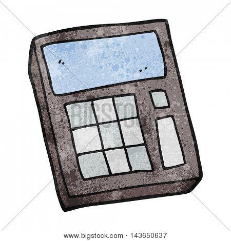 freehand textured cartoon calculator