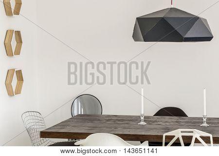 Modern Dining Room Made A Piece Of Art
