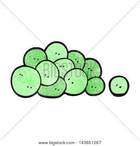 freehand textured cartoon peas