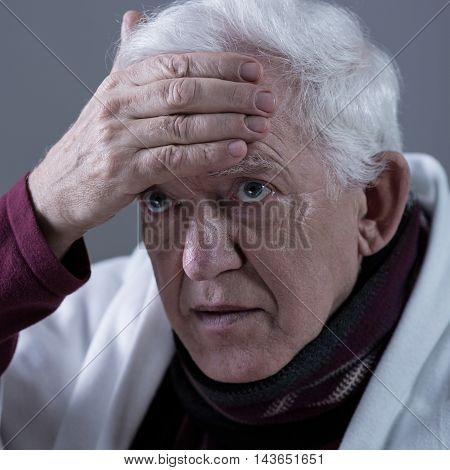 Pensioner Having High Fever