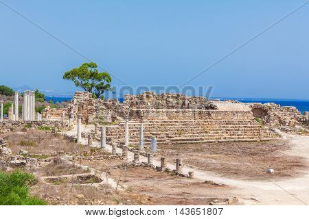 Ruins Of Salamis Near Famagusta.