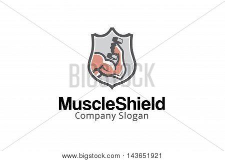 Muscle Shield Creative And Symbolic Design Illustration