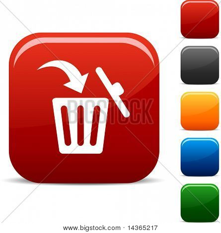 Delete icon set. Vector illustration.