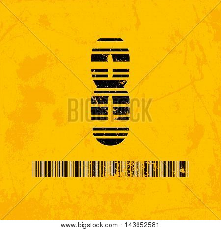 Stylish barcode typeface number eight. Stripped letters of barcode scanning. Custom font. Vector illustration