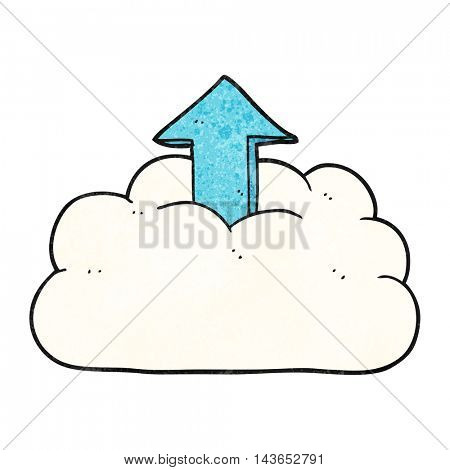 freehand textured cartoon upload to the cloud