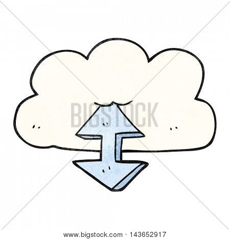 freehand textured cartoon digital cloud