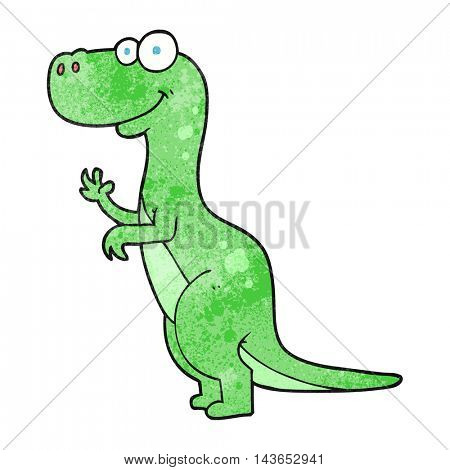 freehand textured cartoon dinosaur