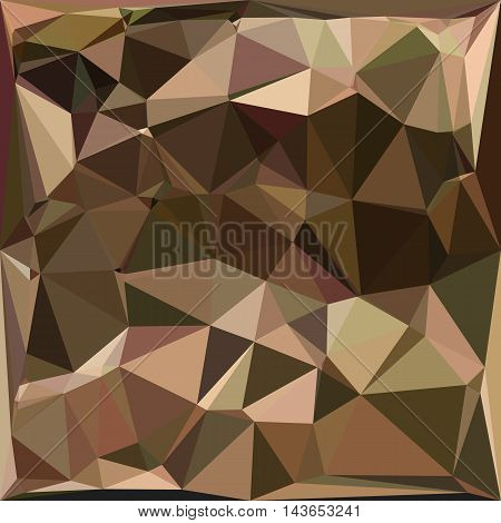 Low polygon style illustration of a sienna abstract geometric background.