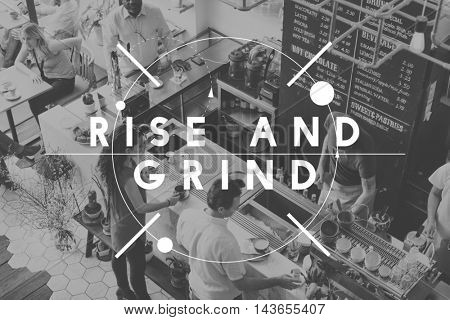 Rise Grind Achievement Goals Growth Success Concept